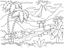 Dinosaur And Volcano Coloring Pages Google Search Mandala
