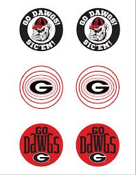 Uga Buttons Printable Georgia Dawgs Uga Football Uga Tailgate Party
