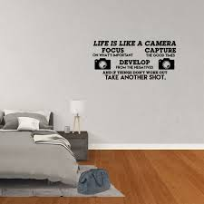 Wall Decal Quote Life Is Like A Camera Focus On What S Important And If Things Don T Work Take Another Shot Decor Inspirational Vinyl Sticker Jp748 Walmart Com Walmart Com