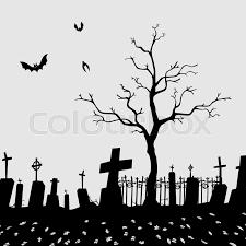 Cemetery Silhouette Vector Eps 8 File Stock Vector Colourbox