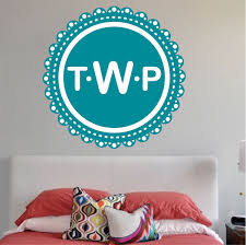 Monogram Wall Decal Initial Stickers Primedecals
