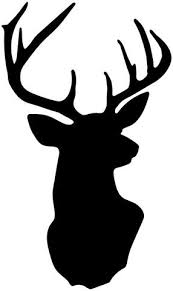 Metallic Gold Or Silver Deer Head Trophy Vinyl Wall Decal Vinyl Wall