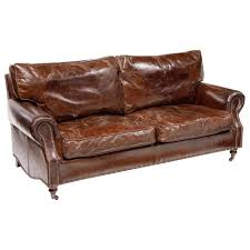 3 seater leather sofa vintage cigar