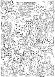 Kleurplaat Volwassenen Poezen Hobby Blogo Nl