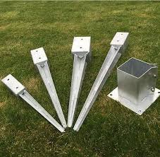 Fence Post Spike Holder 75mm Metal Holders Stakes Garden Drive In Fence Spike Post Bases Supports Spikes Fence Post Wood Fence Design Diy Backyard Fence