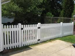 4 White Polyvinyl Dog Ear Picket Fence Wood Picket Fence Dog Fence White Picket Fence
