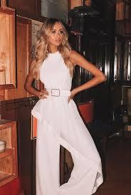Elliatt Adeline White Jumpsuit by Elliatt | Her Style AU
