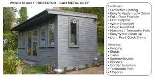 Wood Protector Gun Metal Grey