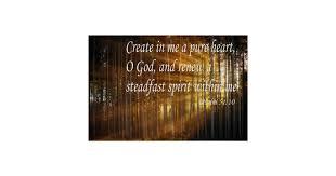 Psalm 51 10 Create In Me A Pure Heart Poster Zazzle Com