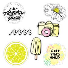 7 Pack Cute Beach Aloha Vibes Sticker Packs Great Accessories For Waterproof Water Bottle Stickers Laptop Hydro Flask Stickers Phones Ocean Flower Sea Designs Walmart Com Walmart Com