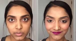 red lipstick to hide dark circles