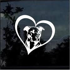 Pitbull Heart Window Decal Sticker Custom Sticker Shop