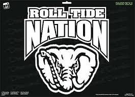 Alabama Roll Tide Nation Vinyl Decal Sec College Football Car Window Sticker New Ebay