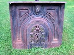 antique 1830 cast iron fireplace mantel