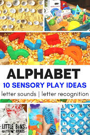 letters with alphabet sensory play