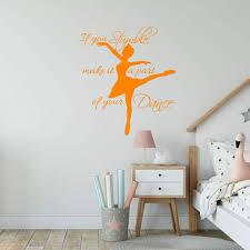 Vwaq If You Stumble Make It A Part Of Your Dance Wall Decal Girls Room Dance Studio Quotes Vinyl Sayings Ballerina Decor Walmart Com Walmart Com