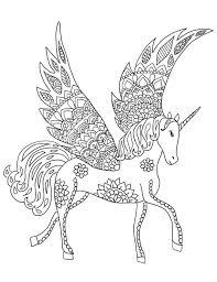 Downloadbare Unicorn Kleurplaat Pagina Volwassen Kleurplaten Etsy