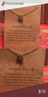 good luck elephant necklace this little