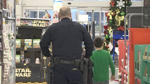 harrison police officers take kids