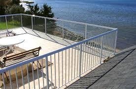 aluminum deck railing glass railing