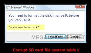 memory card without formatting