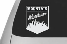 Vinyl Decal For The Outdoor Enthusiast Mountain Adventurer Etsy