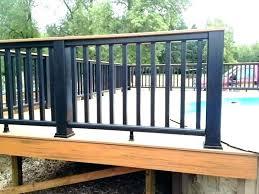 deck railing cost horizontal ideas