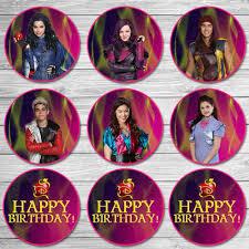 The Descendants Cupcake Toppers Pink Purple The Descendants