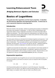 basics of logarithms portal