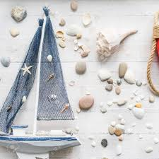 Sea Theme Decorations Of The Kids Room Such As Cute Wooden Boat Stock Photo Picture And Royalty Free Image Image 92994112