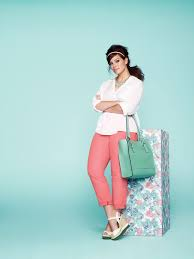 pastel pink pants in plus size outfits