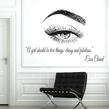 Vinyl Wall Window Decal Eye Eyelashes Lashes Extensions Wall Sticker Eyebrows Brows Beauty Salon Quote Make Up Wall Mural D167 Wall Stickers Aliexpress