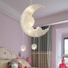 Creative Moon Stars Fairy Led Pendant Lamp Chandelier Ceiling Light Kids Children Bedroom Decoration Warm White Lighting Ceiling Light Ceiling From Champion Pros861 24 55 Dhgate Com