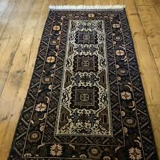 superb old hand knotted afghan rug