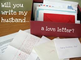 write my husband a love letter