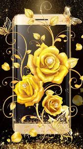 gold rose live wallpaper free android