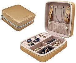 com leather jewelry box travel