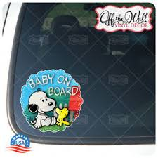 Baby Snoopy Dog Friend Baby On Board Vinyl Car Decal Sticker Ebay