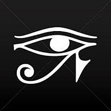 Amazon Com Socooldesign Egyptian Hieroglyphic Eye Horus Car Window Vinyl Decal Sticker 4 Wide White Automotive