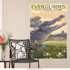 Everglades Florida Alligator Wall Decal At Retro Planet
