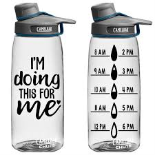Water Bottle Tracker Vinyl Decal Jane
