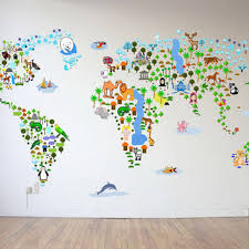 Sale Cultural World Map Wall Decal From Walls2lifedecals On