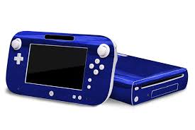 Amazon Com Blue Chrome Mirror Vinyl Decal Faceplate Mod Skin Kit For Nintendo Wii U Console By System Skins Video Games
