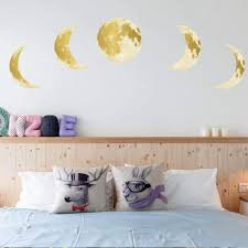 Moon Phase Wall Sticker Glow In The Dark Moonchildworld