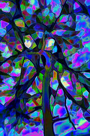 stained glass tree digital art by lilia d