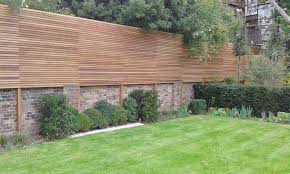 Cedar Fence Panels Natural Slatted Fence Panels Essex Uk The Garden Trellis Company Garden Fence In 2020 Slatted Fence Panels Brick Wall Gardens Cedar Fence