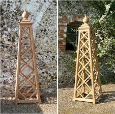 oak iroko teak garden obelisk