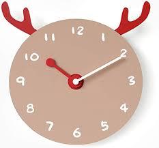 Amazon Com Xm Lz Cute Wall Clocks Quartz Silent Wall Clock Non Ticking Battery Operated Kids Clocks Children S Room Art Clock School Decor Creative B 12inch Home Kitchen