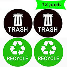Bin Symbol Recycle Can Reuse Work Home Waste Garbage Trash Sticker Vinyl Decal