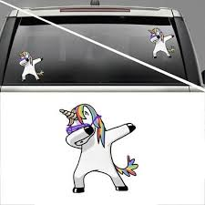 Dabbing Unicorn Car Truck Funny Jdm Window Bumper Diecut Vinyl Decal Sticker 5 99 Picclick
